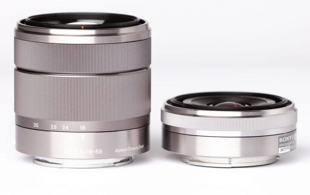 E 18-55mm vs E 16mm
