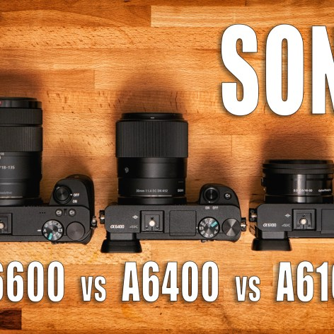 Sony A6600 vs Sony A6400 vs Sony A6100 - Which Camera is for You?