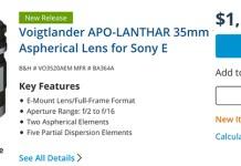 Voigtländer 35mm f/2.0 Lanthar FE lens review by Lenstip – sonyalpharumors