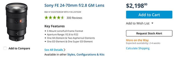 RUMOR: This year Sony will release the new updated 24-70mm GM and 70-200mm GM lenses – sonyalpharumors