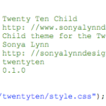 Twenty Ten Child Theme