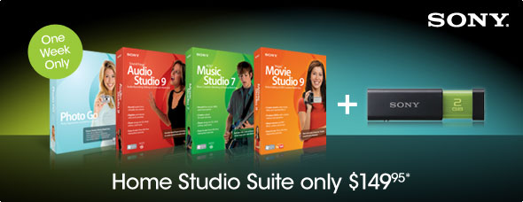 Home Studio Suite only $149.95