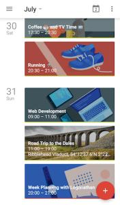 Google Calendar on Mobile - More fabulous than Sunrise Calendar?