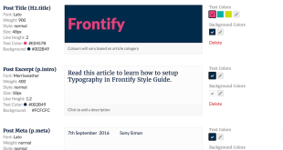 Setting up Typography in Frontify Style Guide
