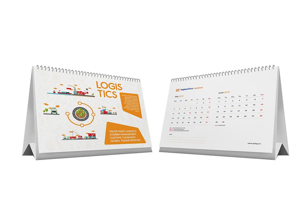 Desain Kalender Dua Bulanan