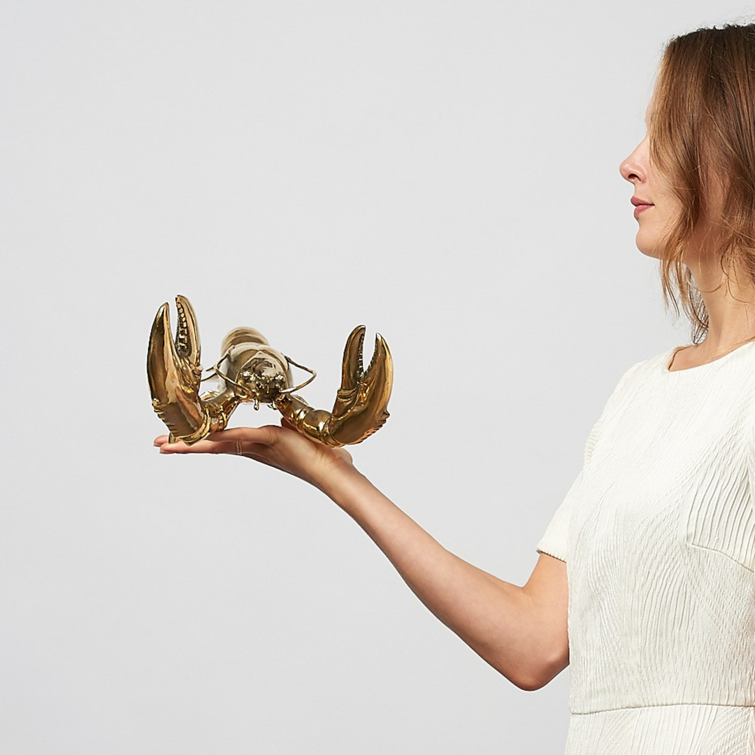 lobster in polished bronze, medium