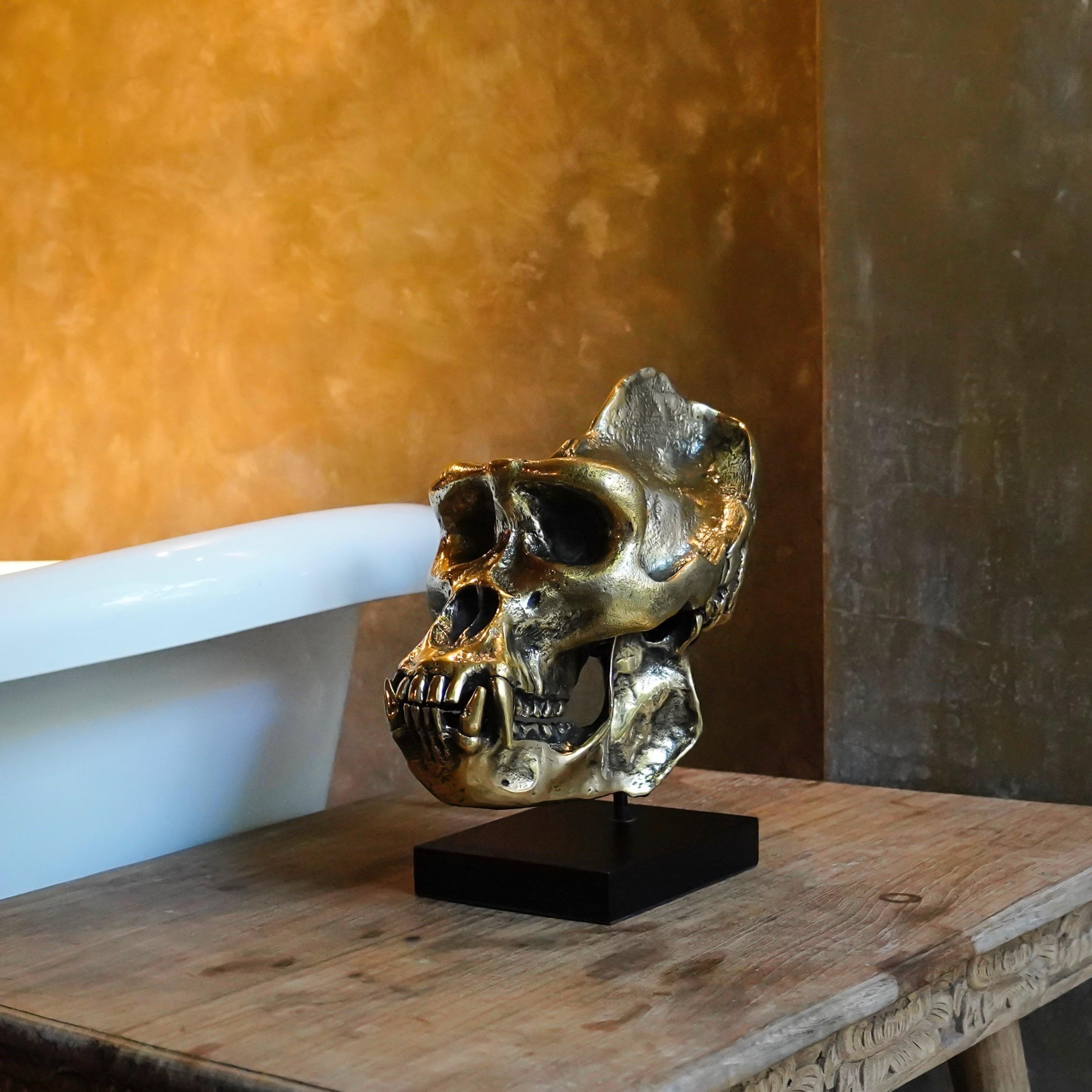 Western Lowland Gorilla Bronze Sculpture Sooka