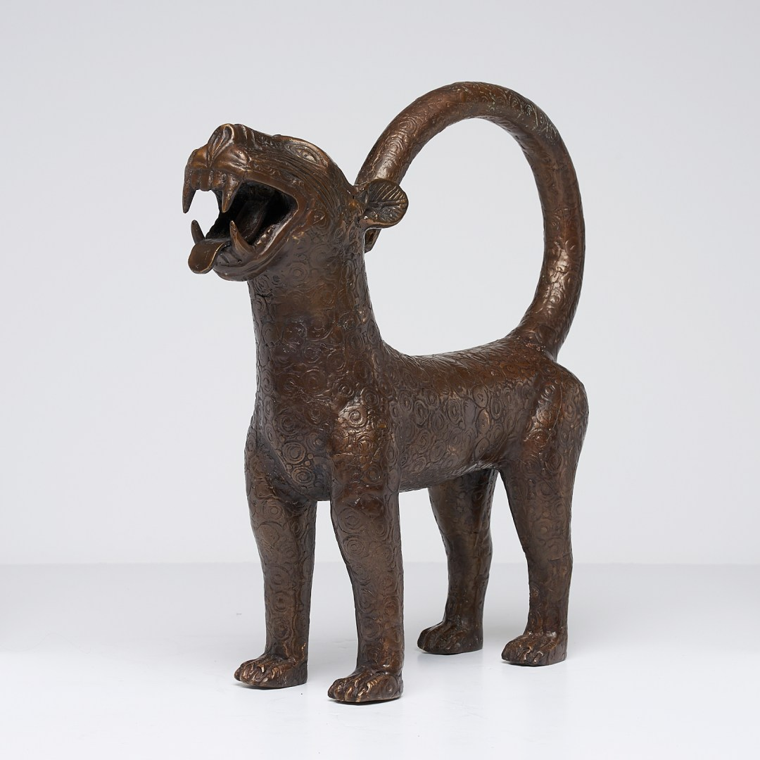 Standing Benin Leopard Sculpture