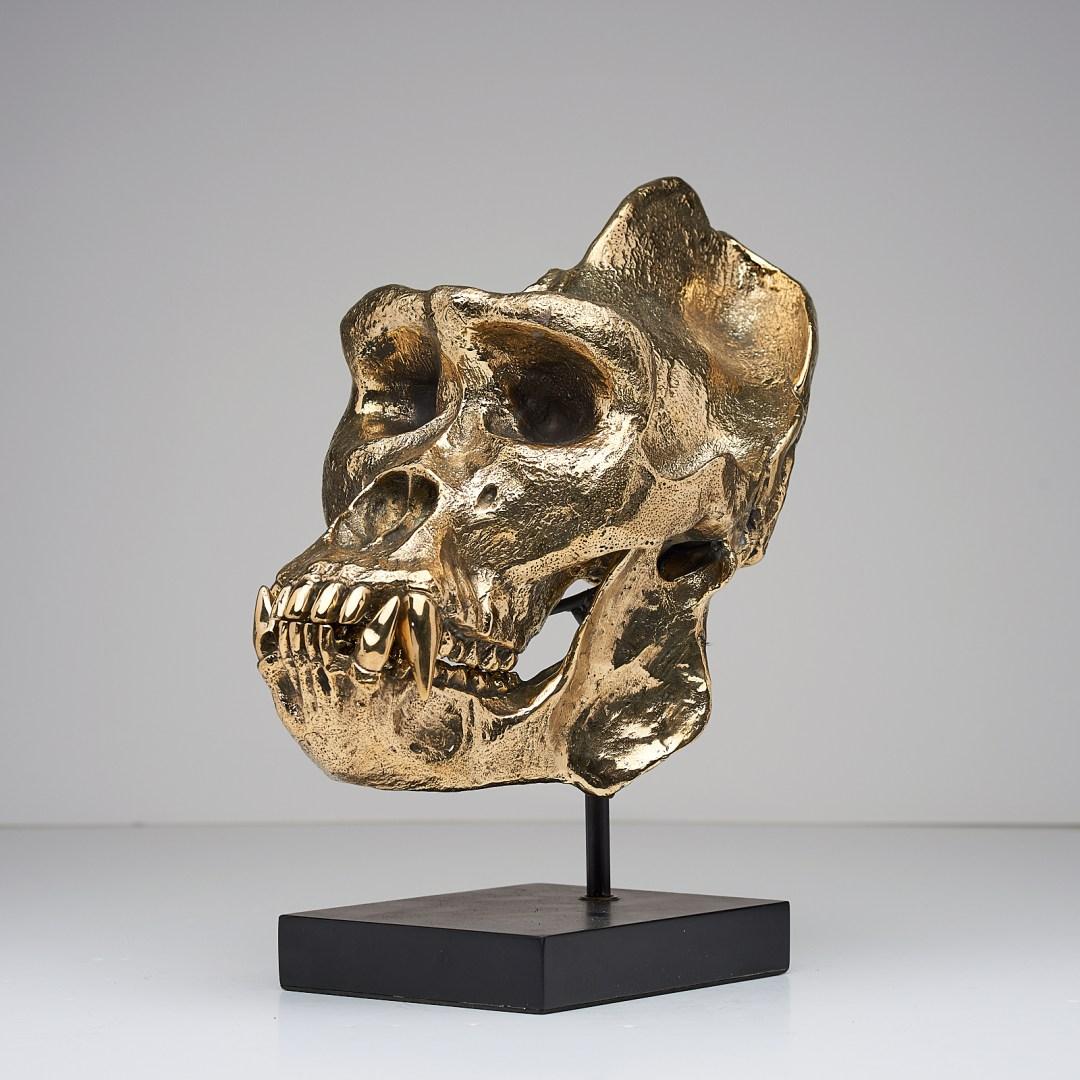 Bronze Gorilla Skull