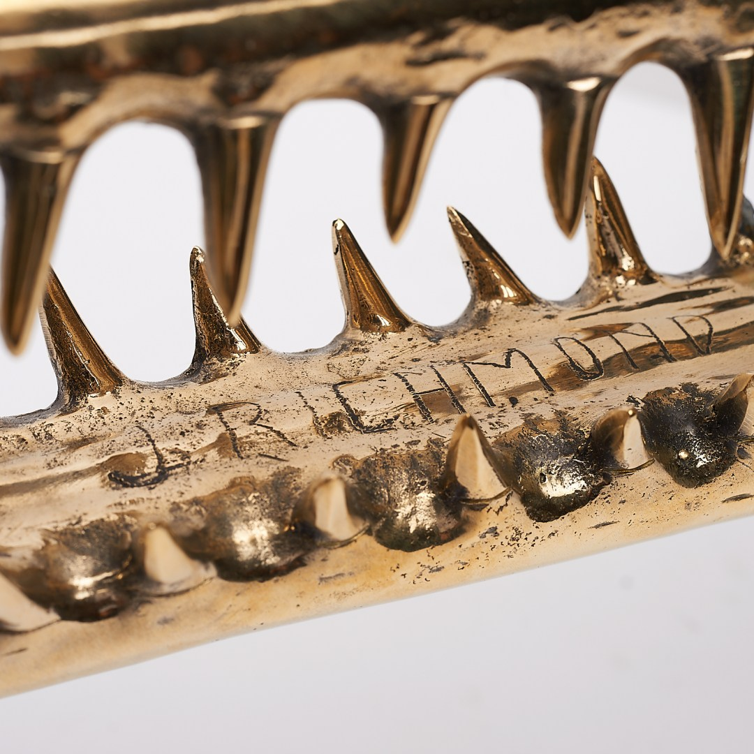 Gharial Sculpture in polished bronze