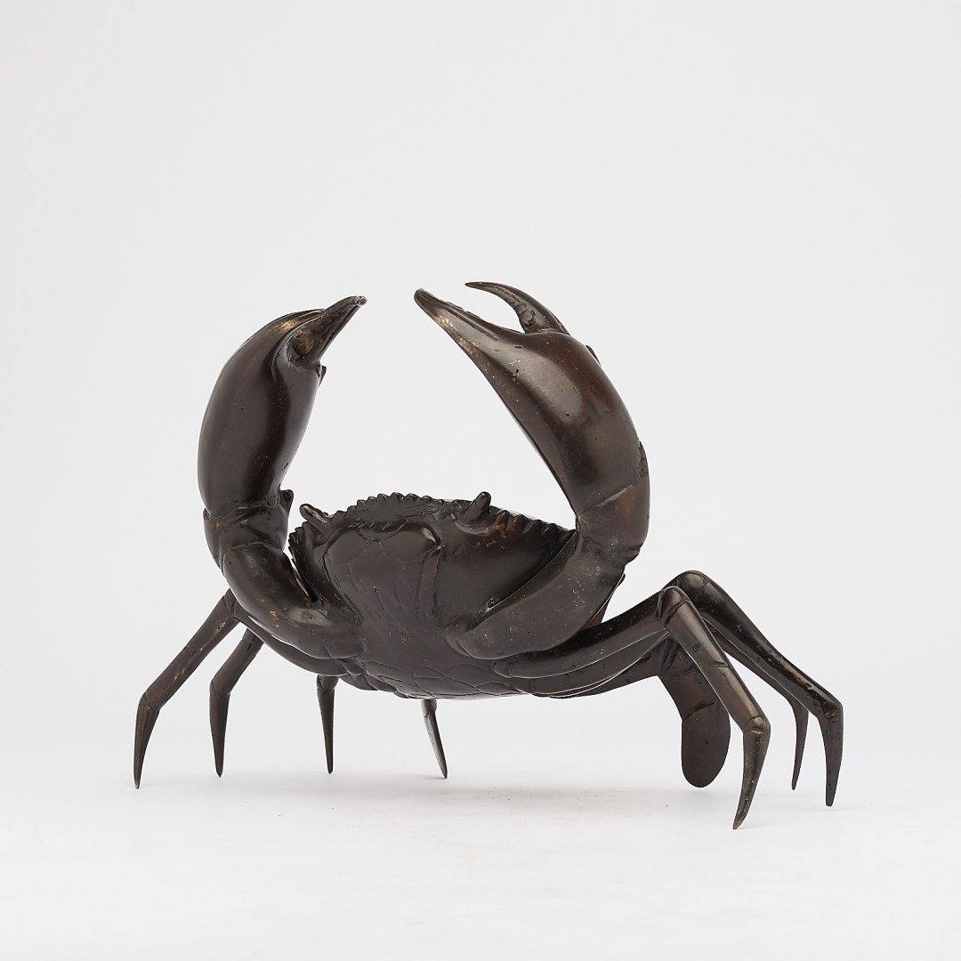 crab in bronze