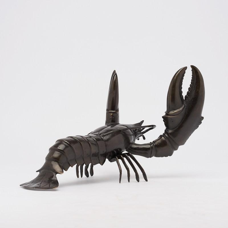 Lobster in bronze