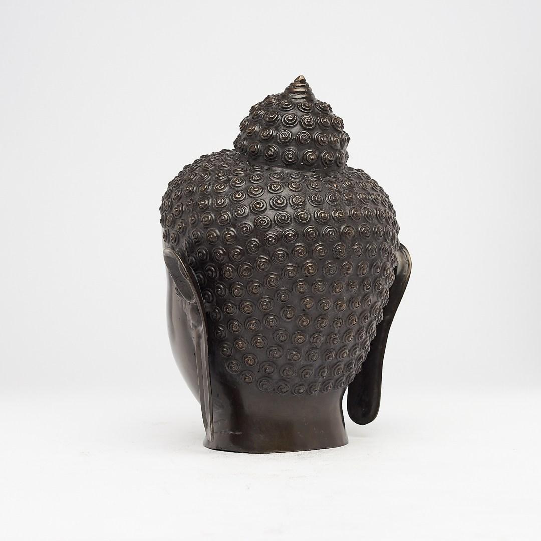 Bronze Buddha Head