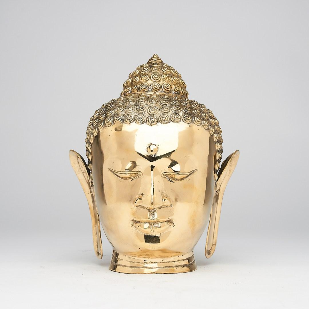 Polished Bronze Buddha Head