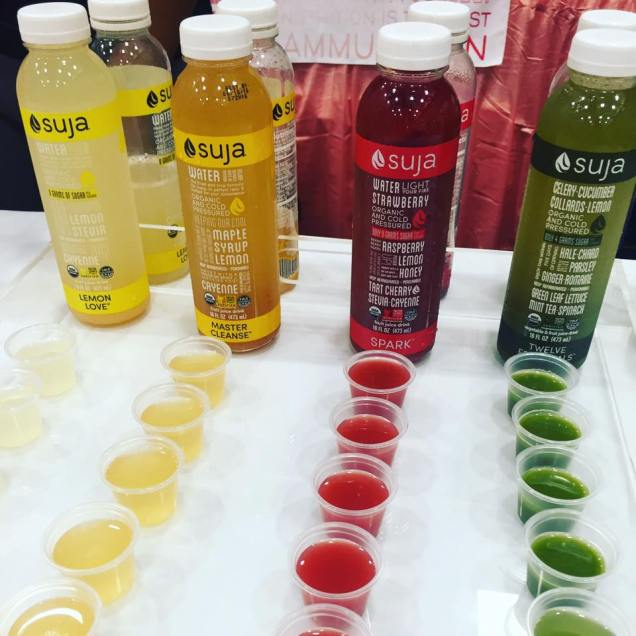 Suja water at The Yoga Expo