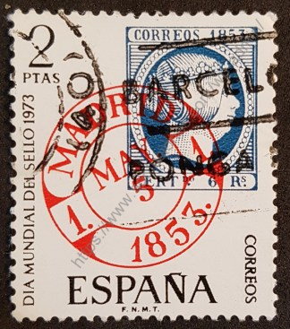 sello españa 1973 dia mundial del sello