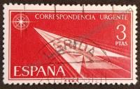 sello españa 1965 avion papel