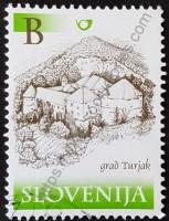 sello eslovenia 2001 castillo Turjak