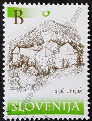 Estampilla Castillos Eslovenia 2000