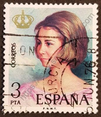 Reina Sofía de España Sello postal 1975