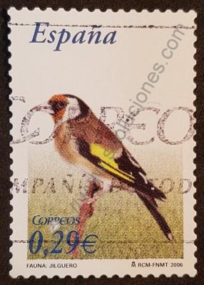 Jilguero sello España 2006 serie flora y fauna