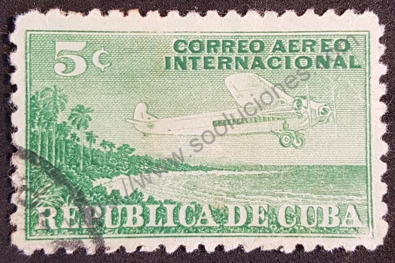 sello cuba 1931 correo aereo internacional