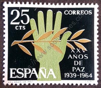 XXV años de Paz en España Sello 1964