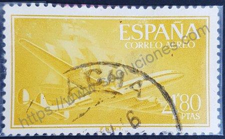 Sello de Avión Super Constellation España 1955