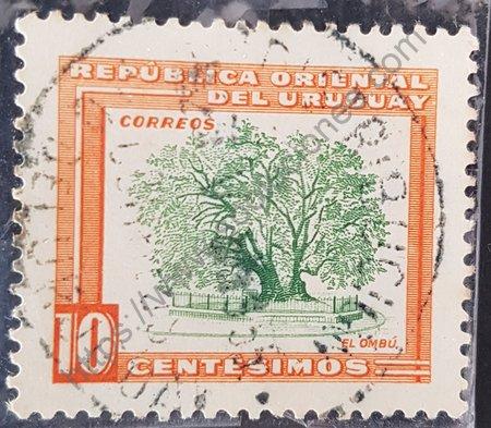 Estampilla el Ombú Uruguay 1954 motivos locales