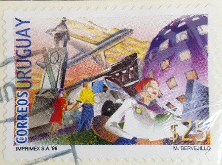 00324-Sello-Uruguay-1998-Servicios-postales