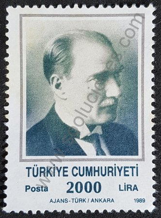 Sello Turquía 1989 Kemal Ataturk