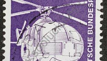 Sello Alemania 1975 helicóptero de rescate