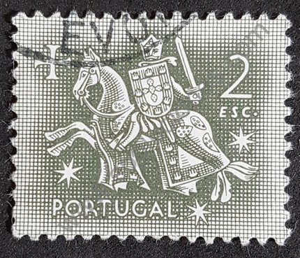 Rey Dionisio Portugal 1953 valor 2 escudos