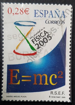 Sello España 2005 Año mundial de la física
