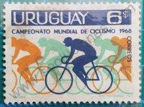 Sello Uruguay 1969 Ciclismo LXV campeonato mundial