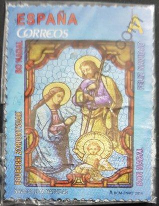 Sello España 2014 Navidad – Vidriera nacimiento Tarifa A