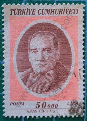 Sello Turquía 1996 Kemal Ataturk 50.000 ₤