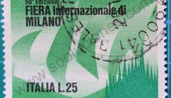Sello Feria Int. de Milán -Italia 1972