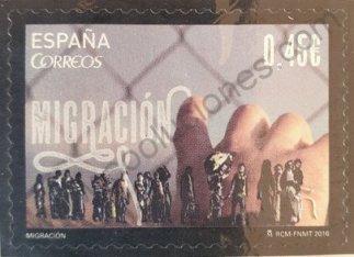 Sello España 2016 Migración – manos
