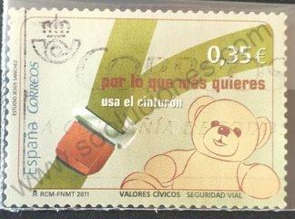 España 2011 Sello Seguridad Vial 0,35 €