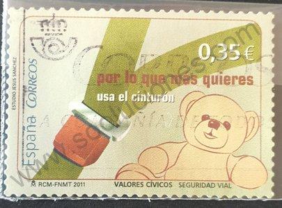 Sello España 2011 Abrocharse el cinturón