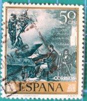Sello España 1968 Fantasía de Mariano Fortuny