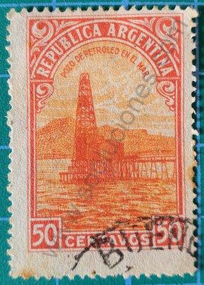 Sello Pozo petroleo en el mar - Argentina 1936