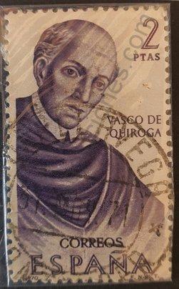 Sello Vasco Vázquez de Quiroga - España 1970