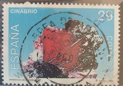 Sello Mineral Cinabrio - España 1994