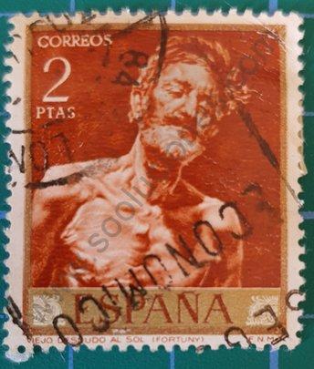 Viejo desnudo al sol - Sello España 1968