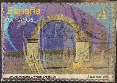 Arco romano de Cabanes - Sello España 2013