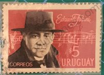Eduardo Fabini - Sello Uruguay 1971 $5