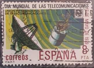 Sello de España 1979 8pta Día mundial de las telecomunicaciones