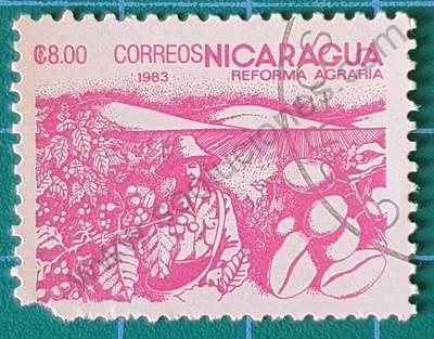 Sello sobre el café - Nicaragua 1983 8C$